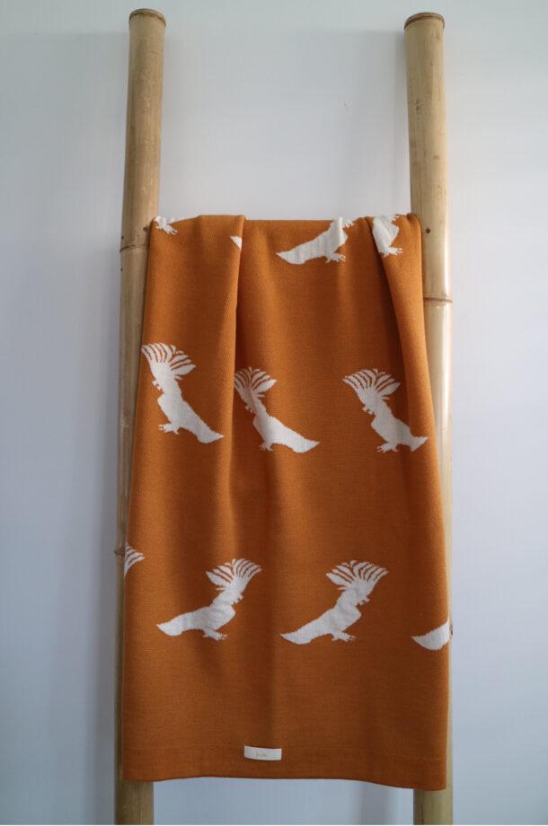 Squwak!-COt-Blanket-Saffron-Jude-E-shop